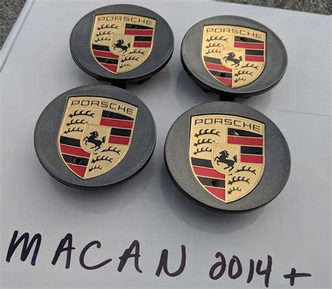 porsche wheel center caps set