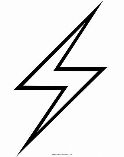 Lightning Bolt Fulmine Coloring Clipart Clip Drawing