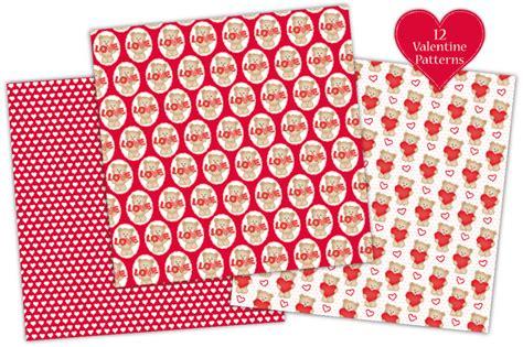 valentine digital paper valentine patterns valentines