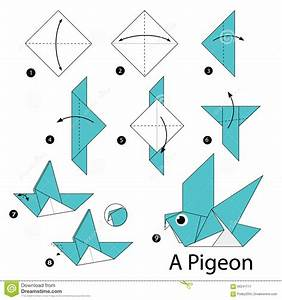 Step By Step Instructions How To Make Origami A Bird ...