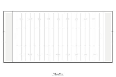 Blank Football Field Template best photos of football field diagram template blank