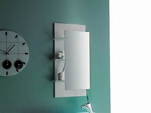 Spiegel Für Gäste Wc : badezimmerspiegel badspiegel wandspiegel orson 2 graphit struktur dekor mit ablage smash ~ Watch28wear.com Haus und Dekorationen