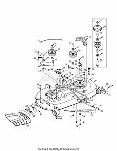 Mtd 13ax795s004  2015  Parts Diagram For Mower Deck 42