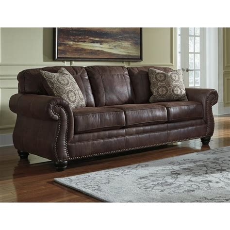 ashley loveseat sleeper sofa ashley breville faux leather queen size sleeper sofa in