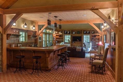 Rustic Bar Ideas by Rustic Bar With Industrial Barstools Hgtv