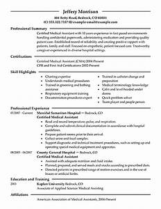 Resume examples templates free sample ideas resume for Experienced medical assistant resume