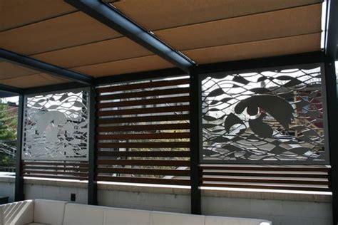 custom outdoor metal privacy screens  chicago rooftop