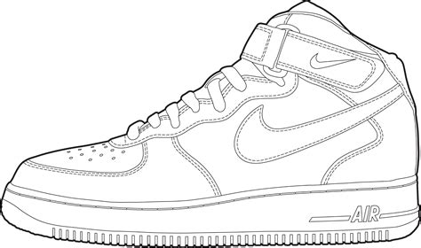 Nike Clipart Shoe Outline Pencil And In Color Nike