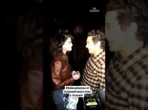 Selena Gomez & James Franco At Coach's Fashion Show In New ...