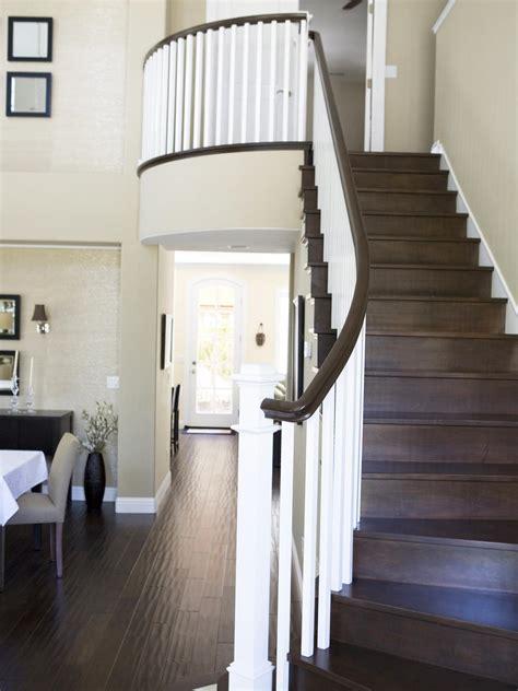 white  brown staircase hgtv