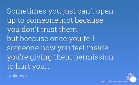 Quotes About Not Opening Up To People