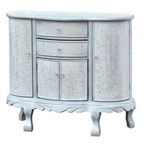 Metal Sideboard Cabinet by Antique White Silver Embossed Metal Curved Sideboard