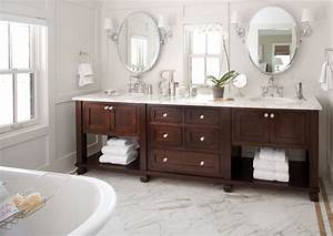 Reclaimed wood vanity bathroom traditional with gray panel for Kitchen cabinets lowes with art nouveau wall sconce