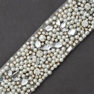 beaded headbands rhinestone pearl beaded trim 2 1 4 quot joyce trimming