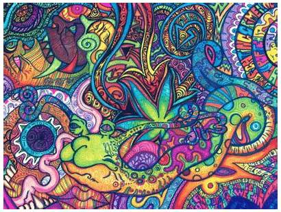 Trippy Psychedelic Pattern Colors Drugs Colorful Drug