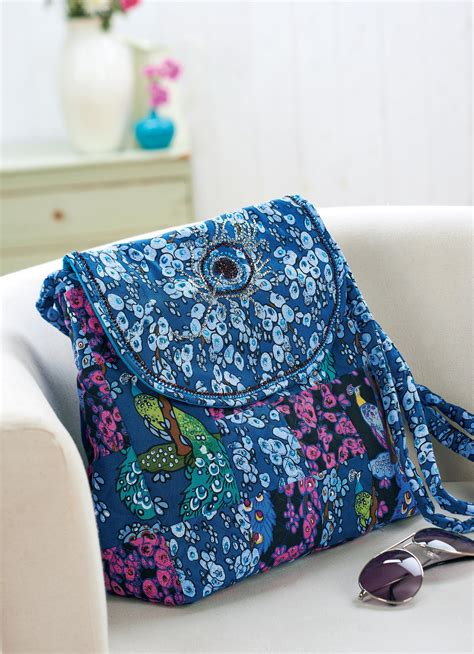 va peacock fabric bag  sewing patterns sew magazine