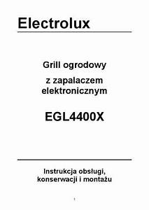 Electrolux Egl4400x Grill Download Manual For Free Now