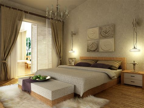 modern bedroom  wooden floor fully furnished  model max