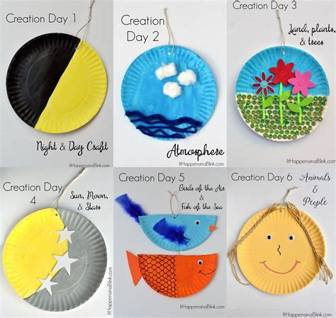 teaching the 7 days of creation sunday school crafts 826 | 59d805456411b849d5d320a1204023e4