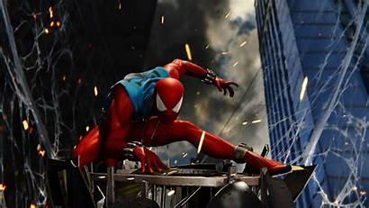 Spider Spiderman Ps4 4k Scarlet Wallpapers Games