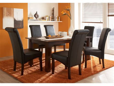 chaise salle a manger cuir chaises cuir marron salle manger le monde de léa
