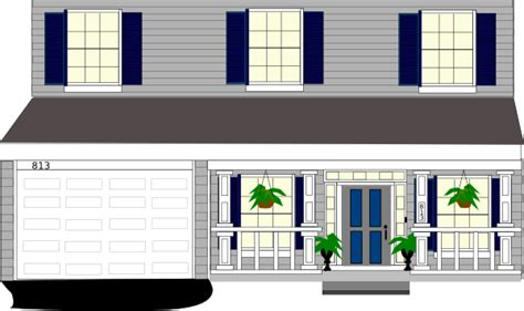 large country house plans front porch windows with plants clip at clker com
