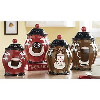 coffee themed canisters coffee theme kitchen decor