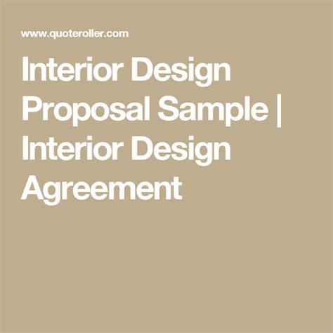 interior design proposal sample interior design