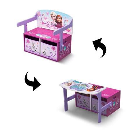 banc chambre enfant la reine des neiges bureau banc enfant convertible avec