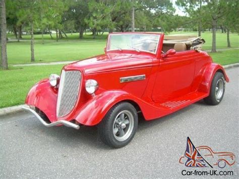 34 Ford Roadster  Cabriolet Street Rod, Pro Built, V8