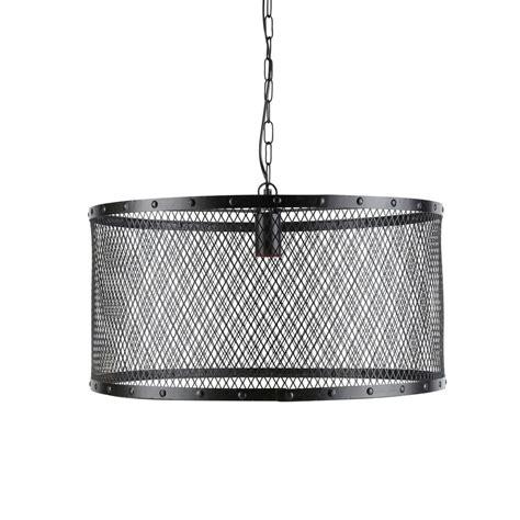 lustre chambre adulte suspension indus en métal grillagé d 55 cm louis