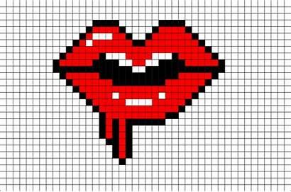 Pixel Lips Melting Template Brik