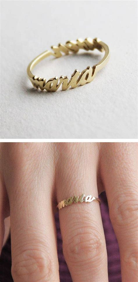 collection of wedding rings with name engraved