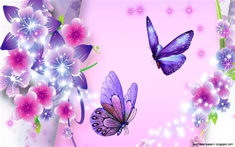 Animated Butterfly Wallpaper - animated flowers and butterflies wallpaper best