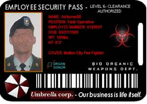 Employee security pass - Umbrella corporation idustries Wiki