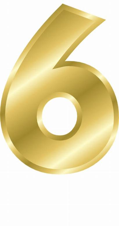 Number Gold Clipart Fancy Transparent Numbers Clip