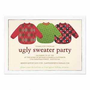 Ugly christmas sweater invite template bronze cardigan for Ugly sweater christmas party invitations template