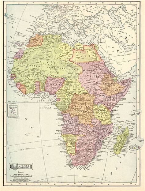 4.9 out of 5 stars 544. 1904 Antique MAP of AFRICA Vintage Africa Map Gallery Wall ...