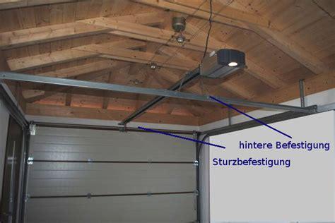 Garage Deckenmontage by Einbaubeispiel Torantrieb