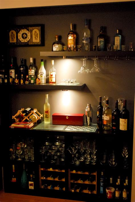 Bar With Shelves by Closet Isn T Lacking Anything As A Bar Ikea Hackers