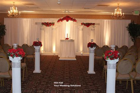 how to decorate a column wedding decorations with columns