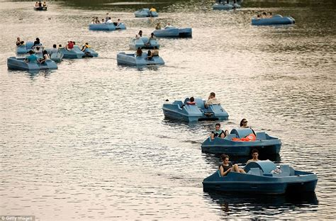 Pedal Boat Hyde Park by Britain Easter Weather Temperature Hits 26 5c And