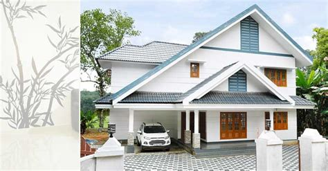 2600 Square Feet 4 Bedroom Sloping Roof Double Floor Home