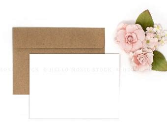 card mockup styled stock photography floral card mock