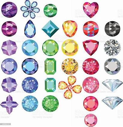Gems Clipart Gemstone Vector Gemstones Colored Illustration