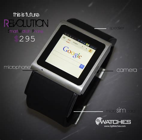 revolution android  smartwatch phone   worlds