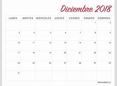 Calendarios 2018 para Imprimir Minimalista