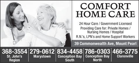 comfort home care comfort home care 202a 39 commonwealth ave mount pearl nl