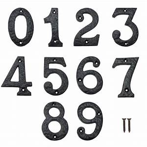 securit black antique iron house front door numbers 0 9 75mm With iron house numbers and letters