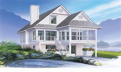 Beach House Plans Narrow Coastal House Plans Narrow Lots